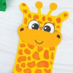 closeup of paper bag giraffe craft