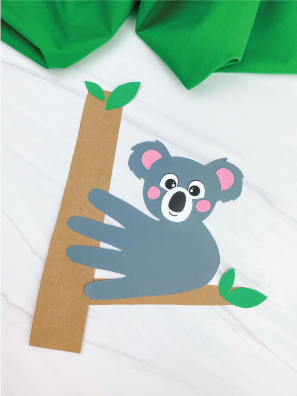 dark gray handprint koala craft