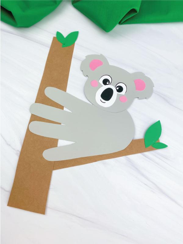 light gray handprint koala craft