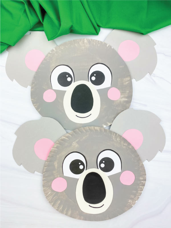 two paper plate koala crafts