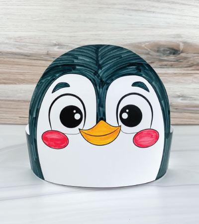 color in penguin headband craft