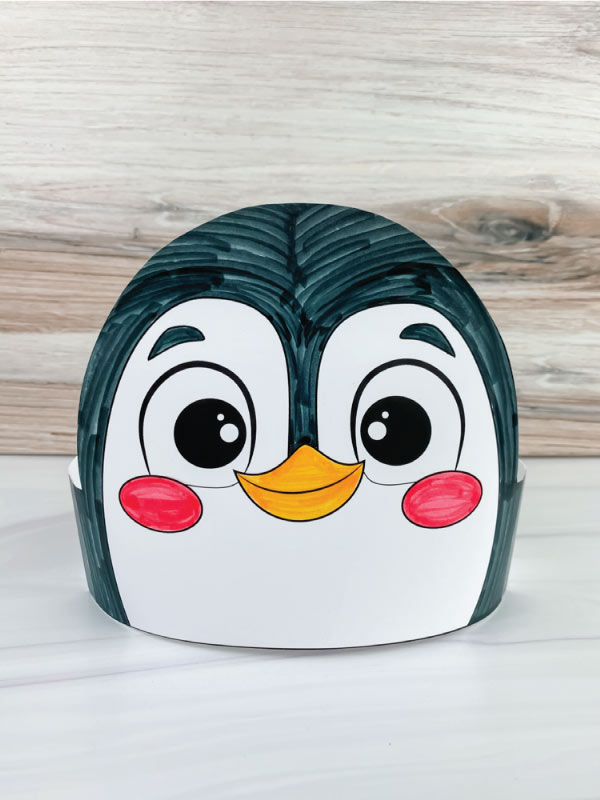 color in penguin headband craft
