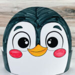 closeup of color in penguin headband craft