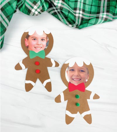 2 photo gingerbread man crafts