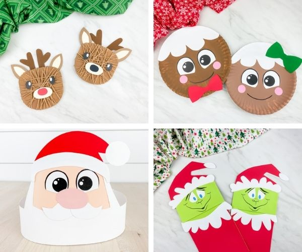christmas crafts for kids image collage