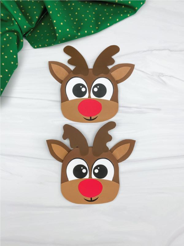 two reindeer Christmas cards