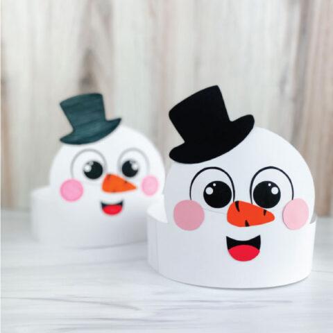 two snowmen headband crafts