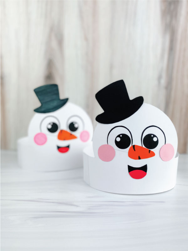two snowmen headband crafts