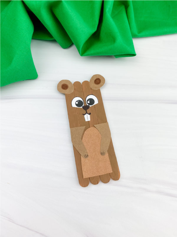 popsicle stick groundhog craft