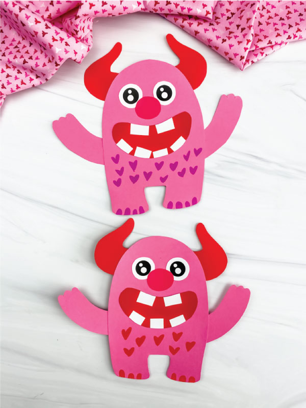 two love monster crafts