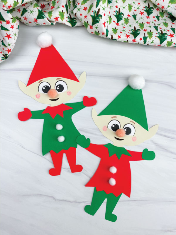 two paper elf crafts