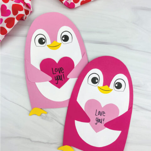 two penguin valentine crafts