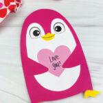 penguin valentine craft