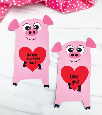 2 pig valentine crafts