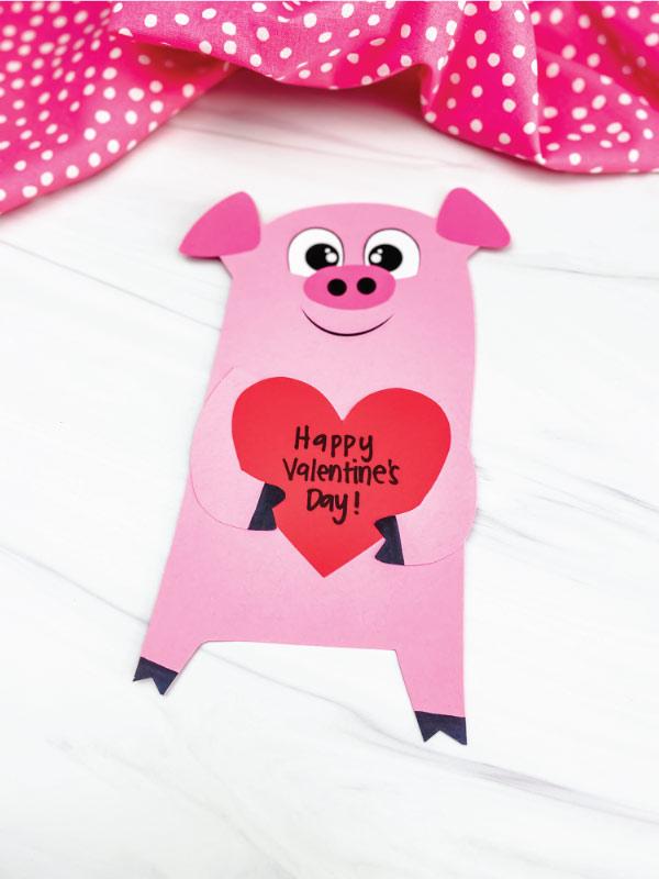 valentine pig craft