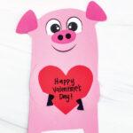 pig valentine craft