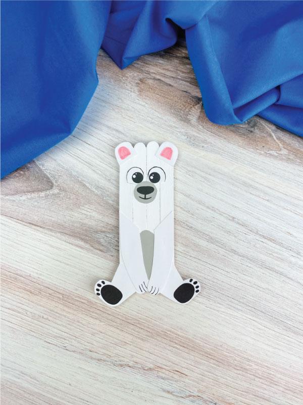popsicle stick polar bear craft
