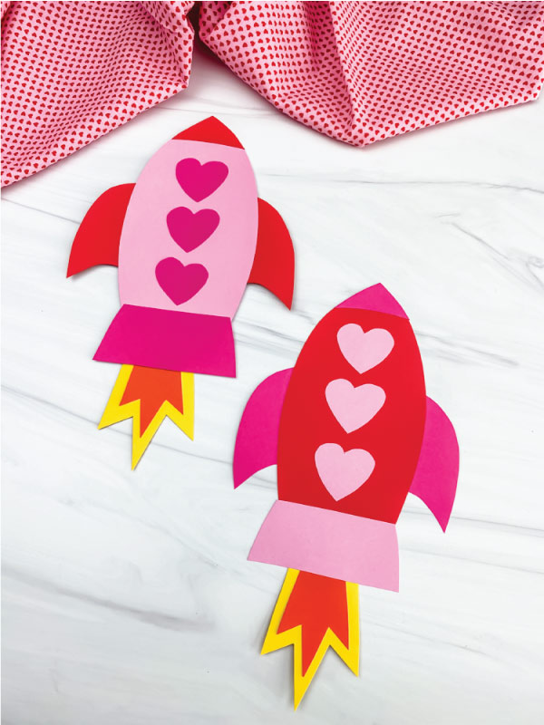 2 rocket valentine crafts