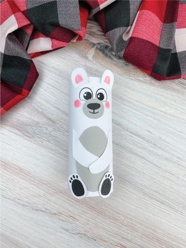 toilet paper roll polar bear craft