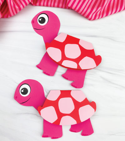 two turtle card crafts