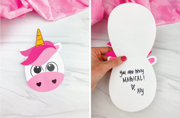 unicorn valentine card craft image collage