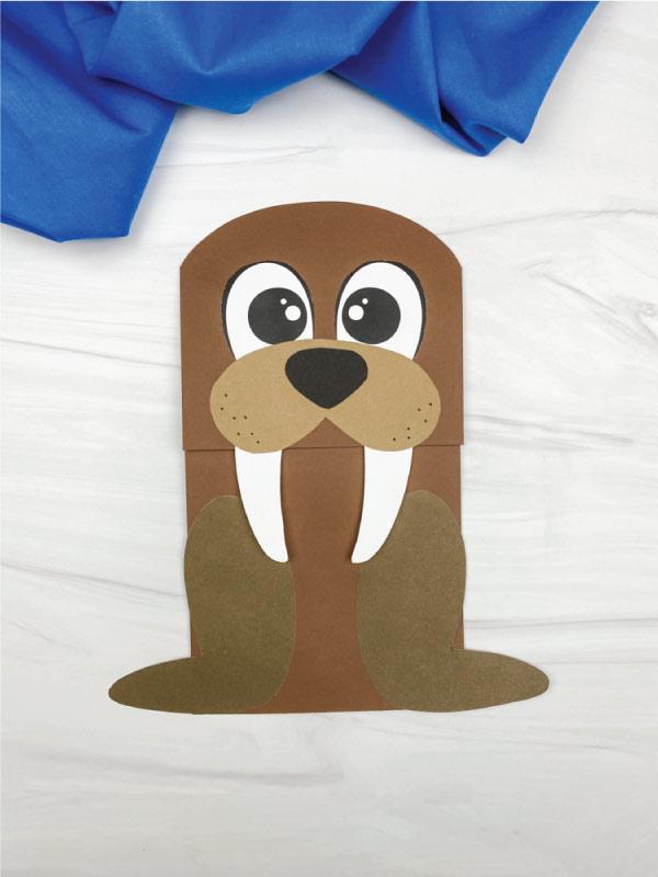 walrus paper bag craft