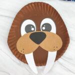 paper plate walrus craft