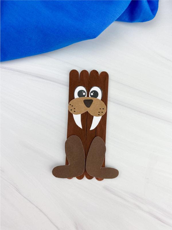 popsicle stick walrus craft