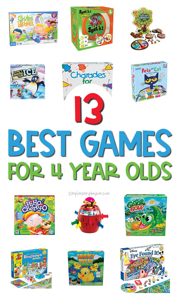 4 year old games image collage