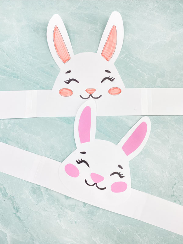 two Easter headband crafts for kids