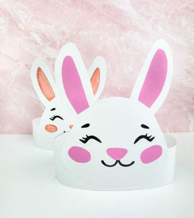 Easter headband craft for kids