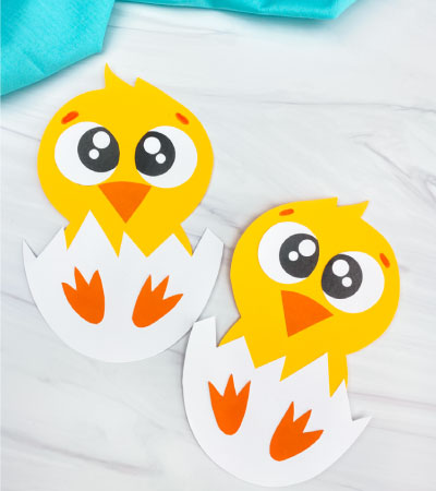 two hatching chick crafts