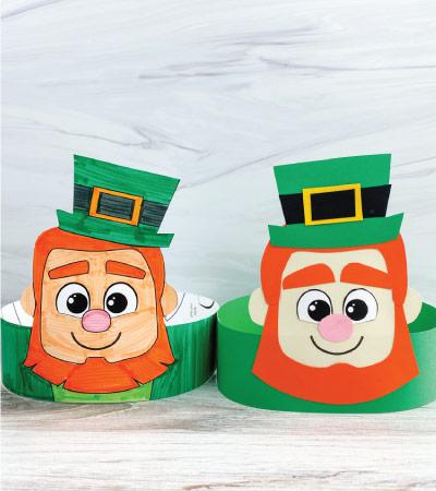 2 leprechaun headband crafts