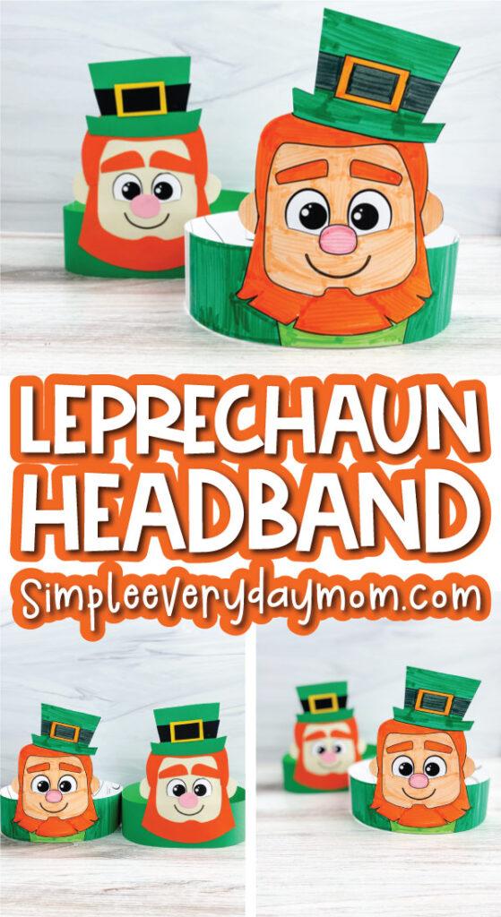 leprechaun headband craft image collage with the words leprechaun headband in the middle