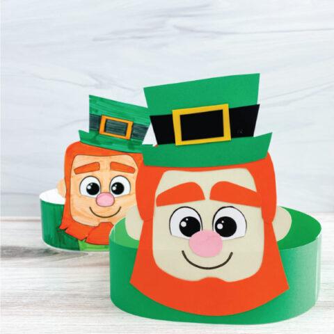 two leprechaun headband crafts