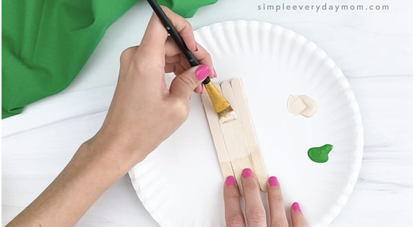 hand painting popsicle sticks