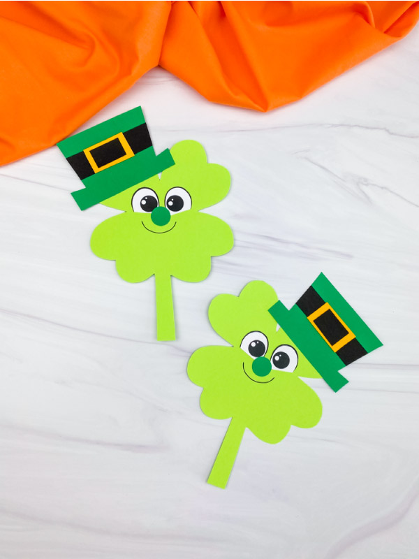 two shamrock leprechaun crafts
