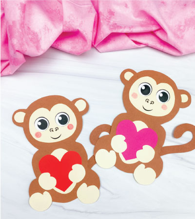 two monkey valentine crafts