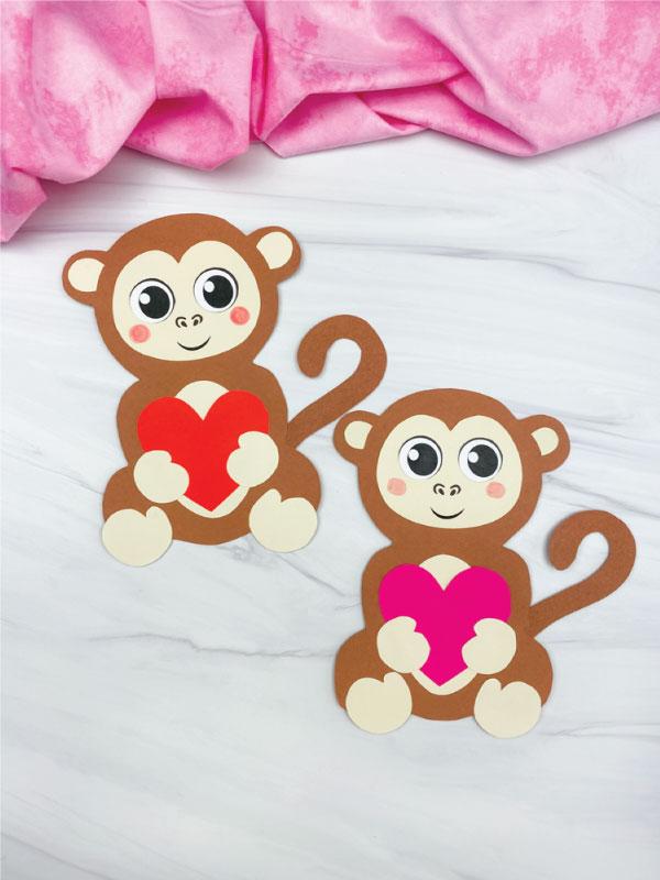two monkey valentine crafts
