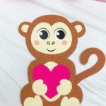 monkey valentine craft