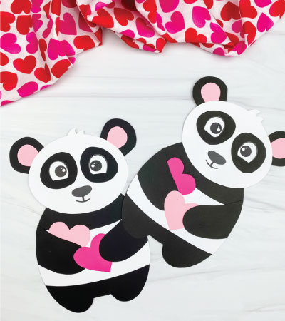 two panda valentine crafts
