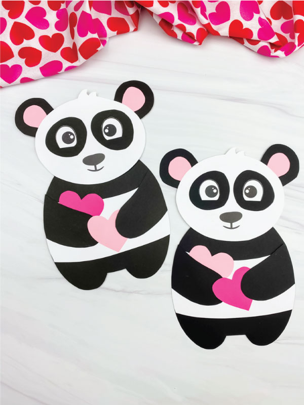 two panda valentine crafts