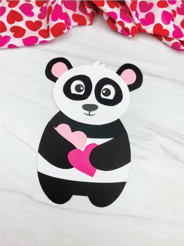 panda valentine craft