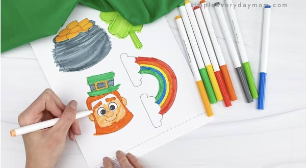 hand coloring in leprechaun head