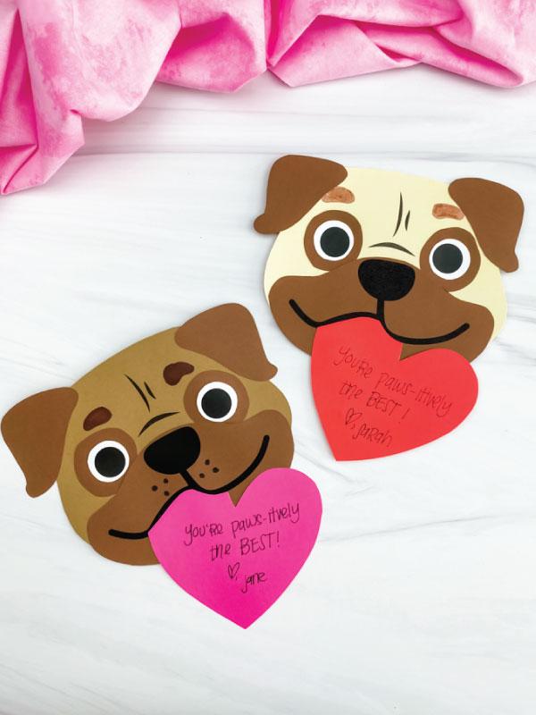 two puppy valentine crafts