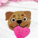 puppy valentine craft