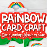 rainbow card craft image collage with the words rainbow card craft in the middle
