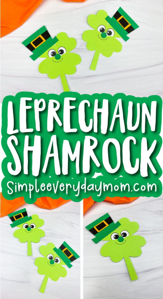 shamrock leprechaun craft image collage with the words leprechaun shamrock in the middle