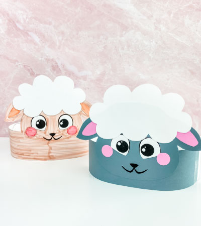 2 sheep headband crafts