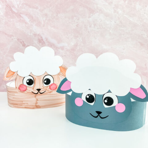 2 sheep headband crafts